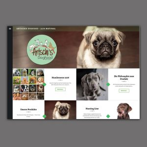 Homepage Artschis Dogfood